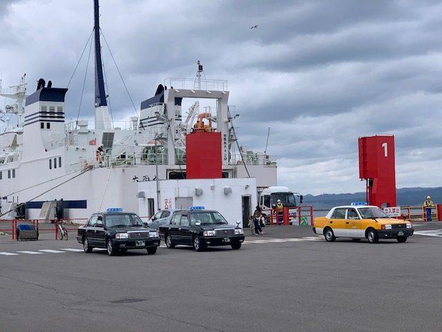 函館に上陸したトラック