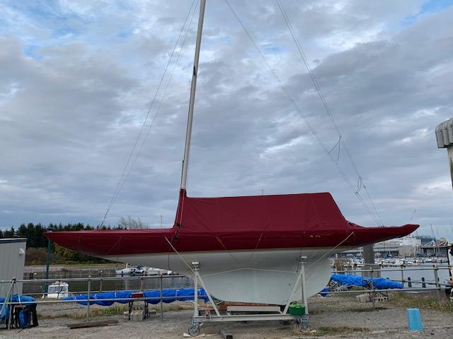 新調したボートカバー
